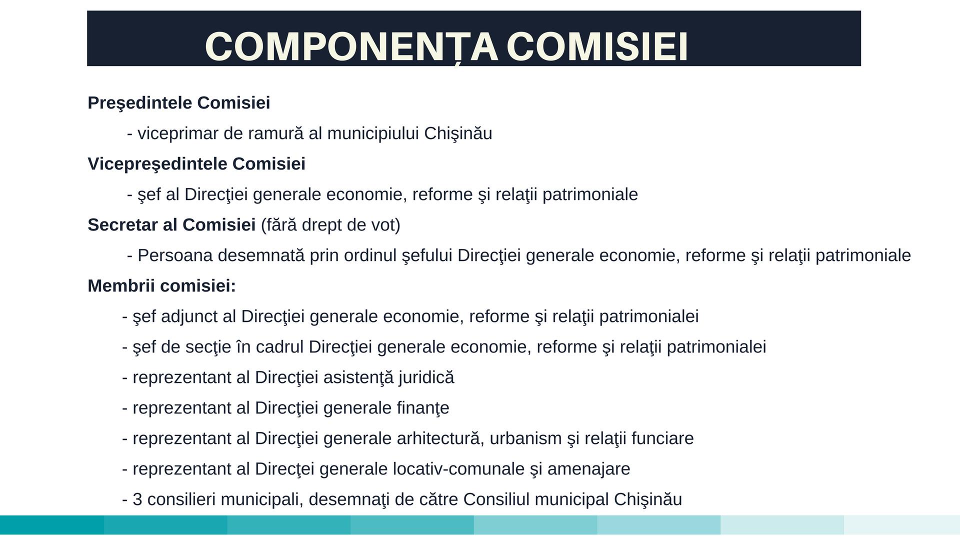 componenta comisiei
