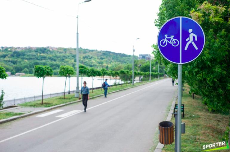 Pista de bicicliști din Parcul Valea Morilor, amenajată în 2018