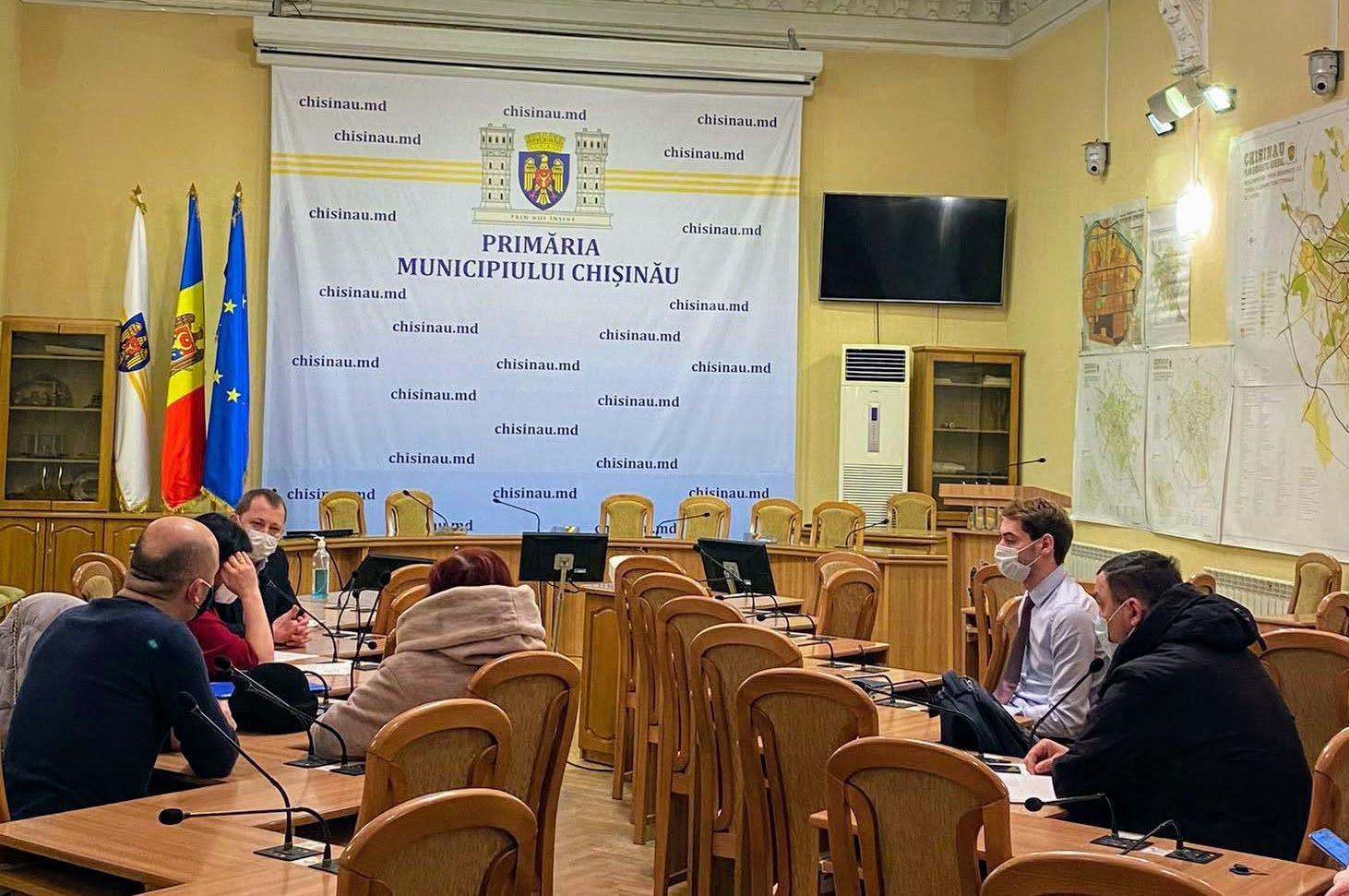 Discuția grupului de inițiativă cu reprezentanții Primăriei. 5.01.2021
