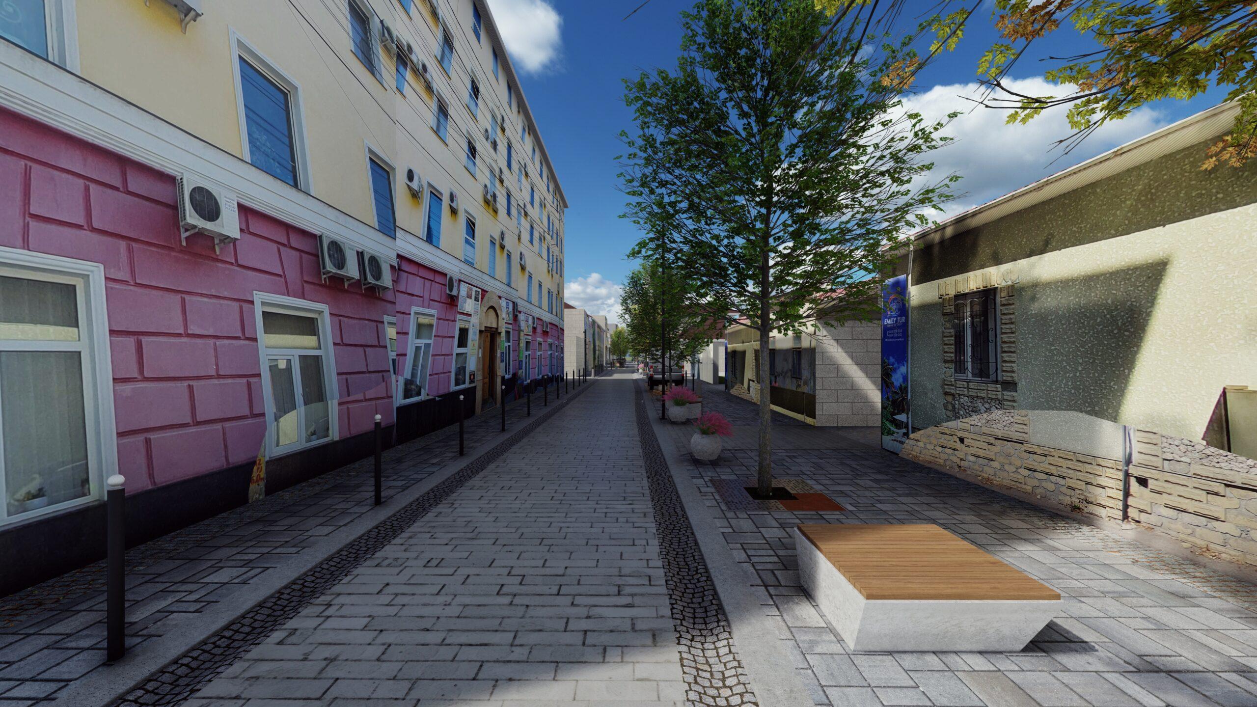 Vedere din partea străzii Dosoftei
