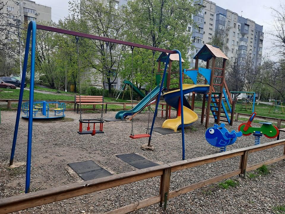 Teren de joacă în mun. Chișinău. Aprilie 2021