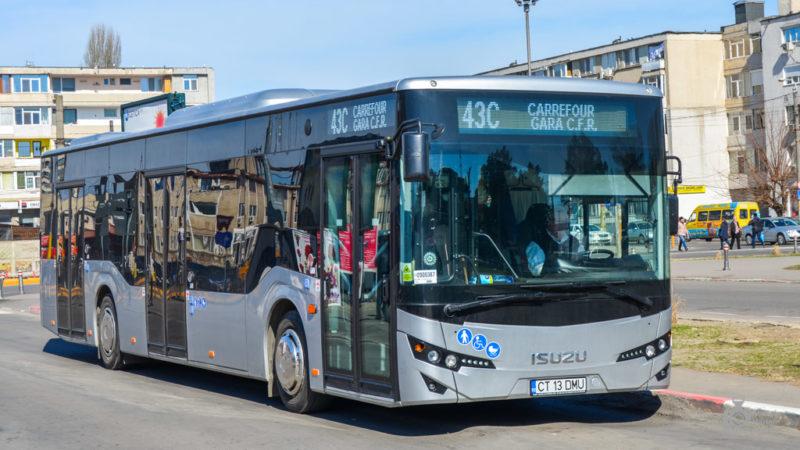 Autobuz CITIPORT al Isuzu la Contanța. Sursă: mobilitate.eu