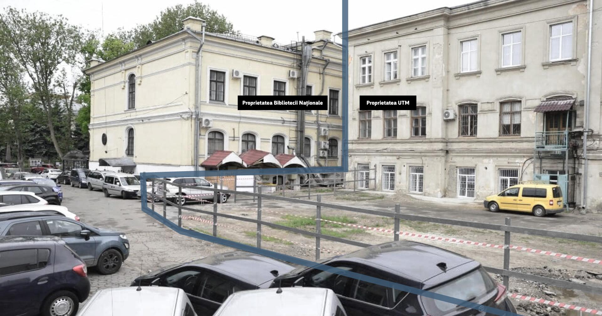 Împărțirea terenului între Biblioteca Națională și UTM. Sursă: facebook.com/i.ceban.public