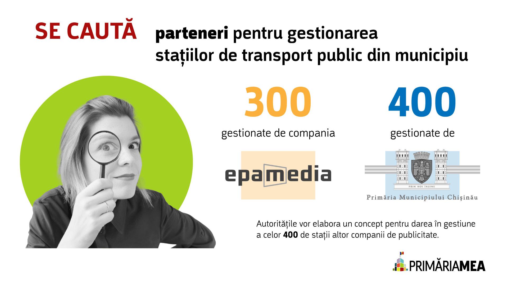 Infografic: Gestonarea stațiilor de transport public în capitală. Sursă: Primăria Mea